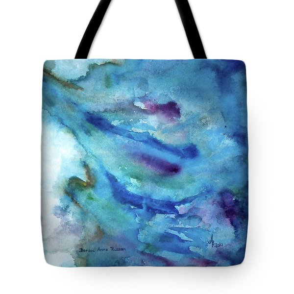 Tote Bag featuring the painting Sinking by Anna Ruzsan