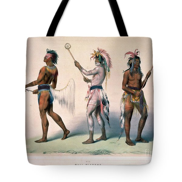 Sioux Lacrosse Players Tote Bag by Granger