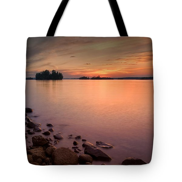 Sioux Narrows Sunset Tote Bag