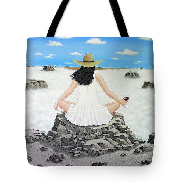 Sippin' On Top Of The World Tote Bag by Lance Headlee