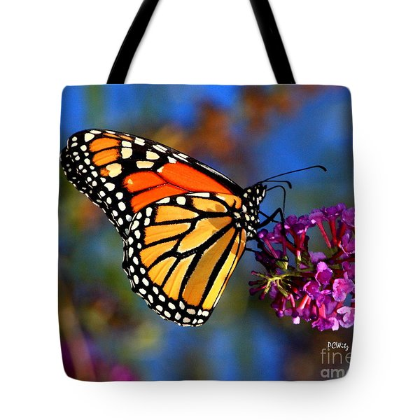 Sipping Monarch Tote Bag