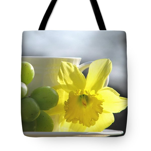 Sipping Spring Tote Bag