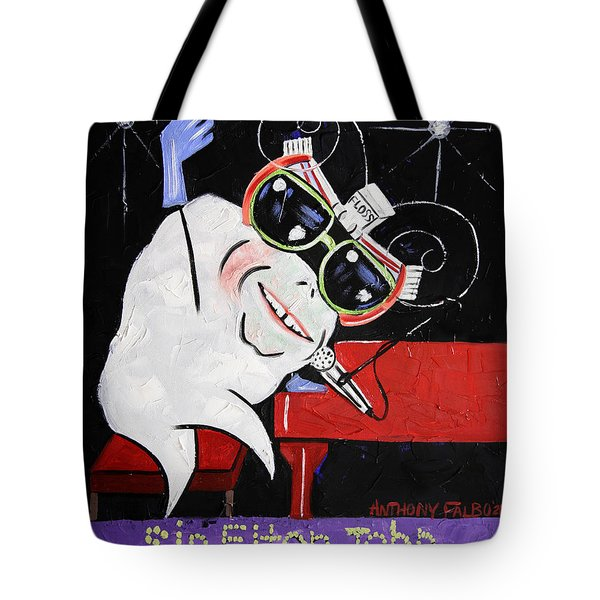 Sir Elton John Tooth  Tote Bag by Anthony Falbo