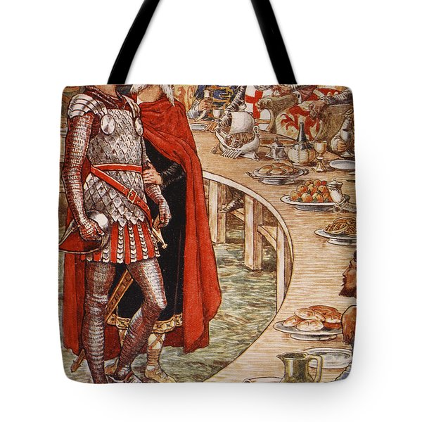 Sir Galahad Is Brought To The Court Of King Arthur Tote Bag