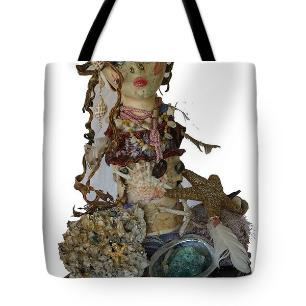 Tote Bag featuring the sculpture Siren by Avonelle Kelsey