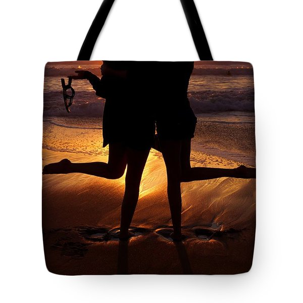 Sister Sunset Tote Bag