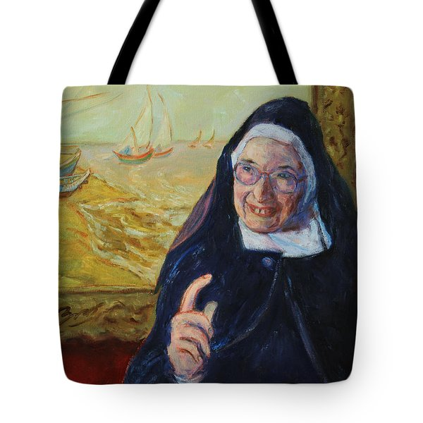 Sister Wendy Tote Bag