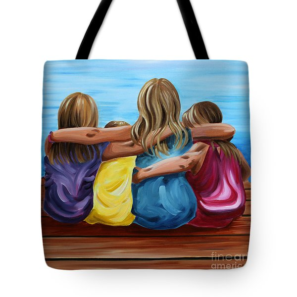 Sisters Tote Bag by Debbie Hart