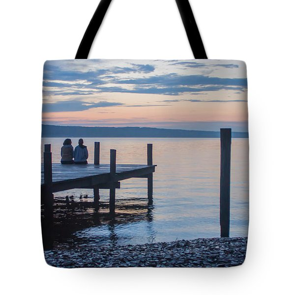 Sisters - Lakeside Living At Sunset Tote Bag