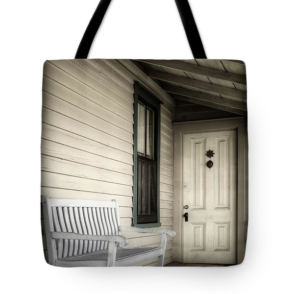 Sit Awhile Tote Bag by Joan Carroll