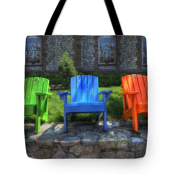 Sit Back Tote Bag
