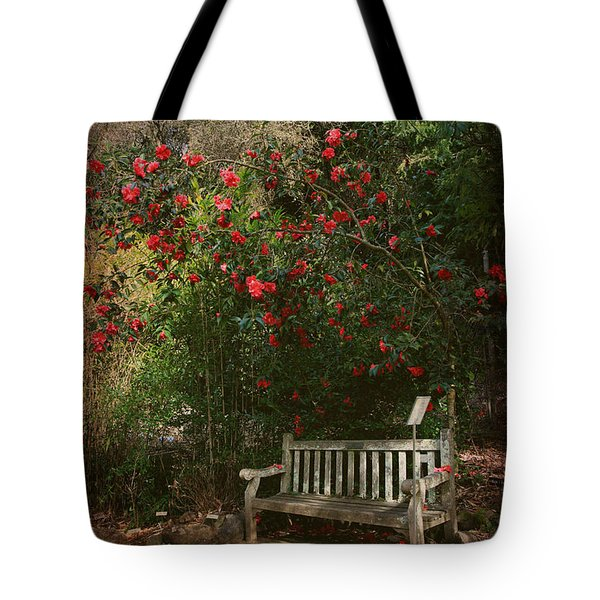 Sit With Me Here Tote Bag by Laurie Search
