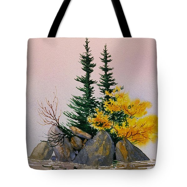Tote Bag featuring the painting Sitka Isle by Teresa Ascone