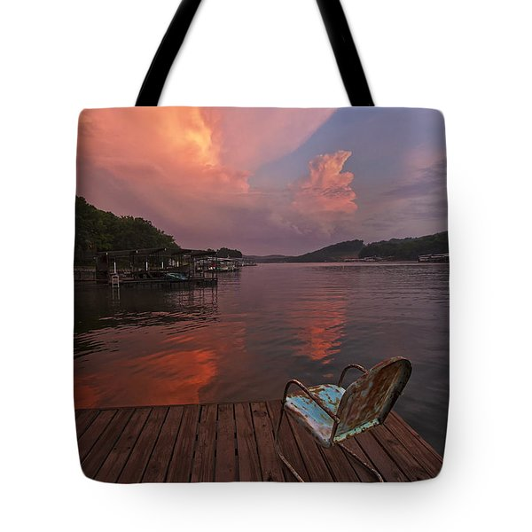 Sittin' On The Dock 2 Tote Bag