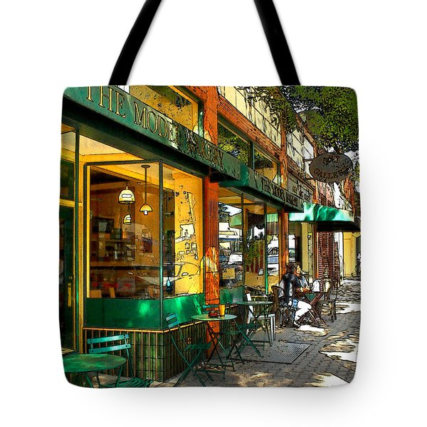 Sitting At The Bakery Tote Bag