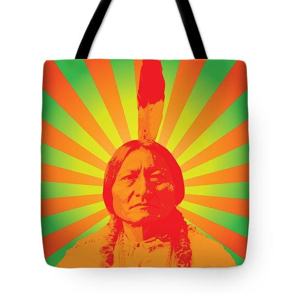 Sitting Bull Tote Bag by Gary Grayson