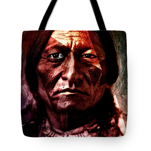 Sitting Bull - Warrior - Medicine Man Tote Bag