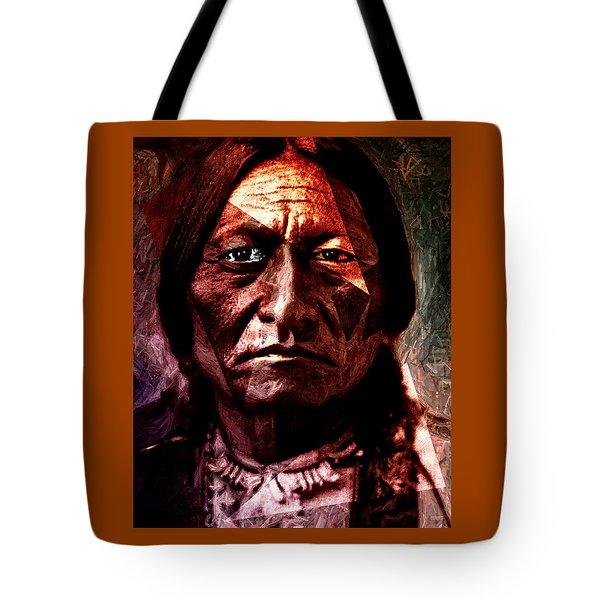 Sitting Bull - Warrior - Medicine Man Tote Bag
