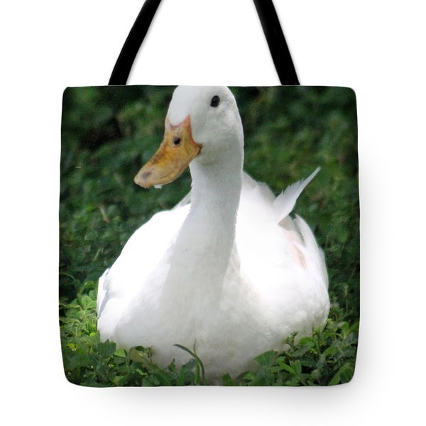 Sitting Duck Tote Bag by Pamela Walton