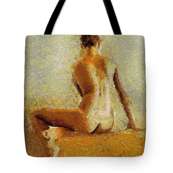 Sitting Nude II Tote Bag