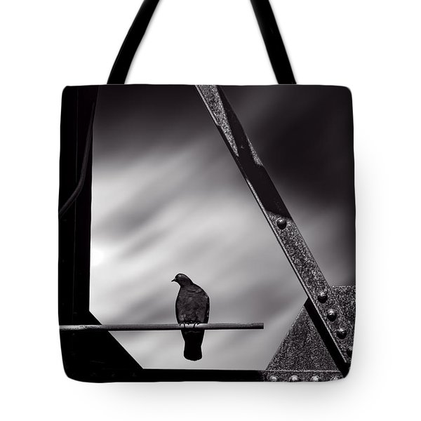 Sitting On A Stick Tote Bag by Bob Orsillo
