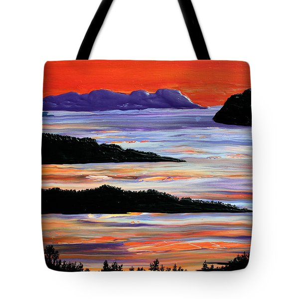 Sitting Seaside Tote Bag