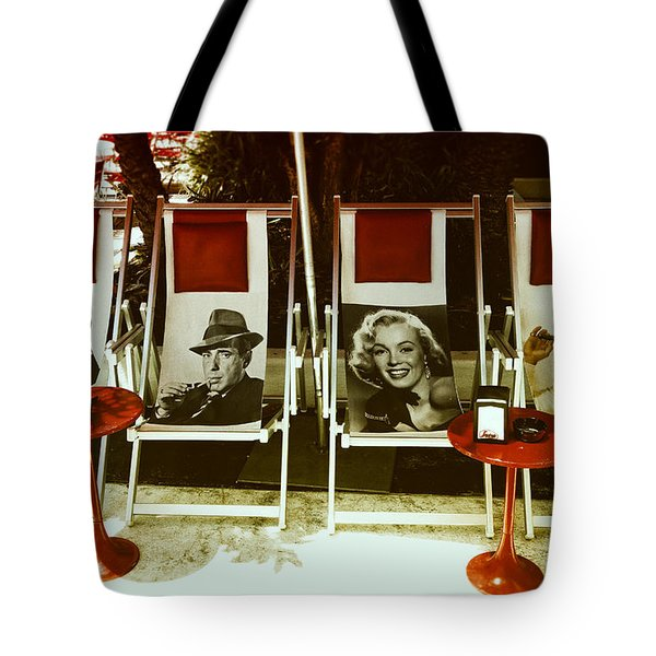 Sitting With Movie Stars Tote Bag by Gary Dean Mercer Clark