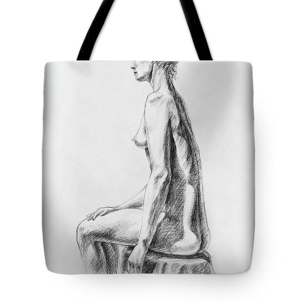 Sitting Woman Study Tote Bag