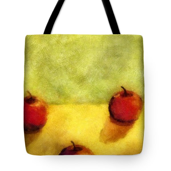 Six Apples Tote Bag by Michelle Calkins