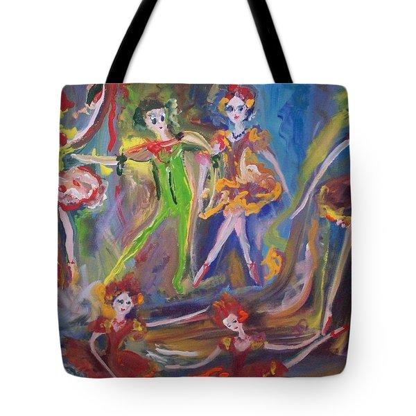 Six Eight Waltz Tote Bag by Judith Desrosiers