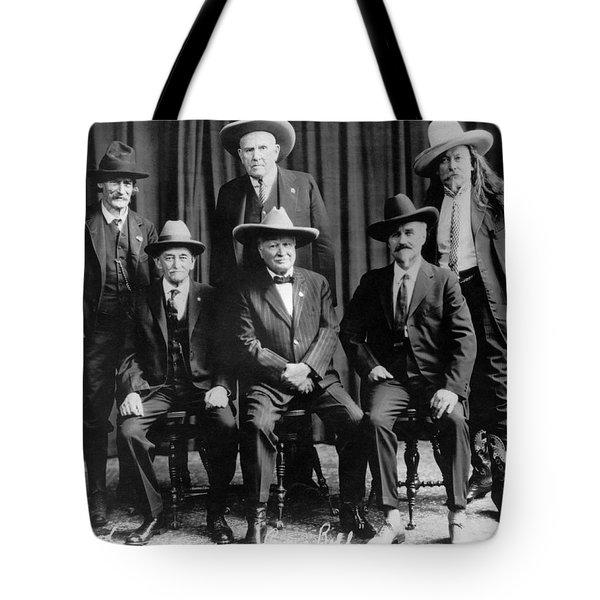 Six Famous Frontiersmen Tote Bag