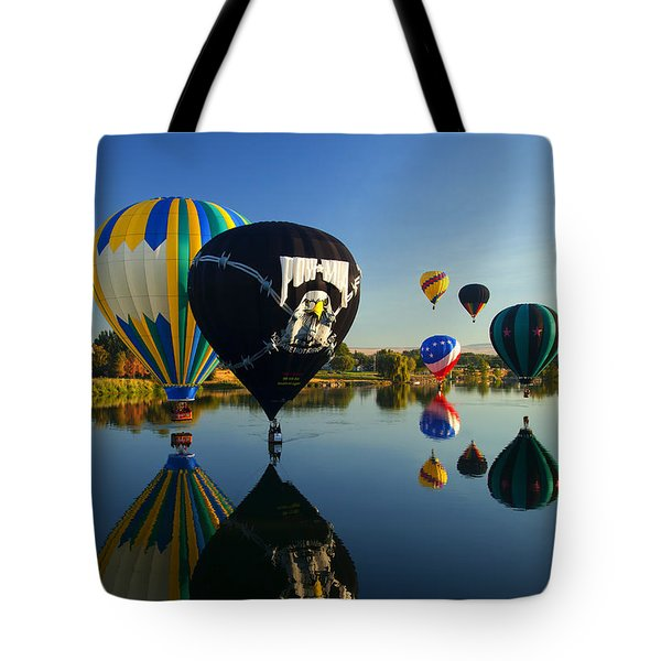 Six On The Pond Tote Bag by Mike  Dawson