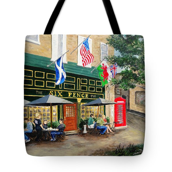 Six Pence Pub Tote Bag