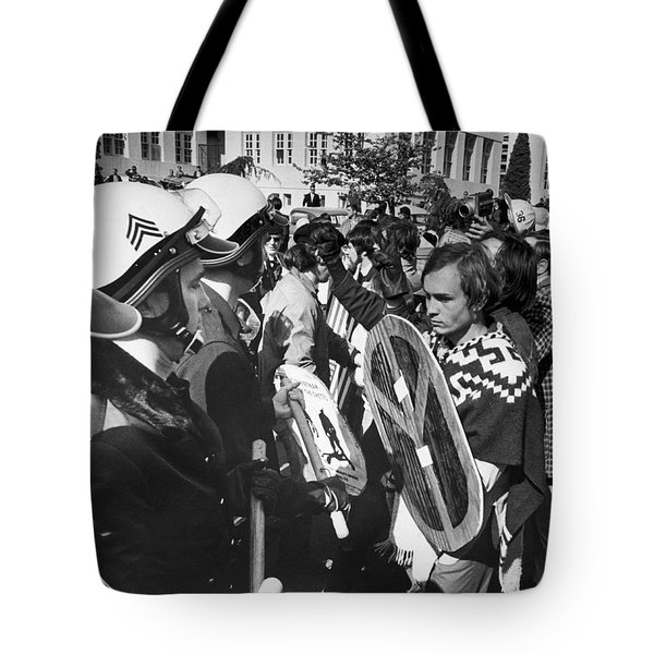 Sixties Protest Face Off Tote Bag