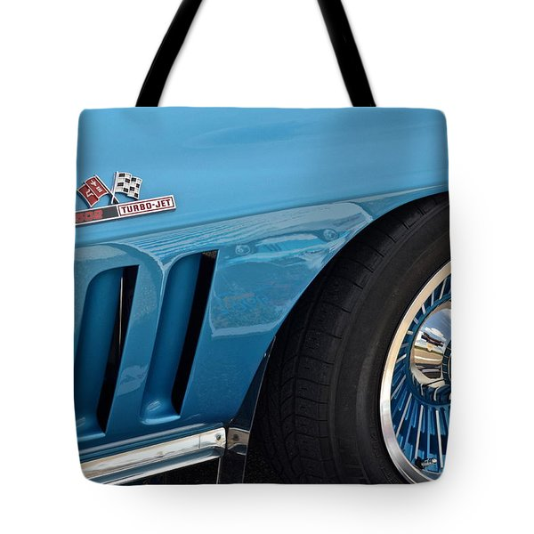 Sixty Six Corvette Roadster Tote Bag by Frozen in Time Fine Art Photography