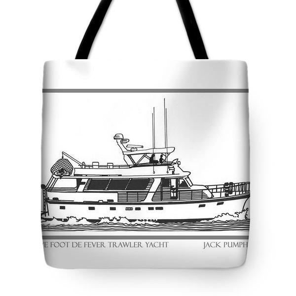 Sixtyfive Foot Defever Trawler Yacht Tote Bag by Jack Pumphrey