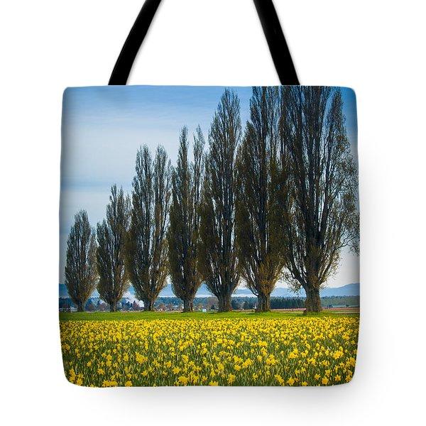Skagit Trees Tote Bag by Inge Johnsson