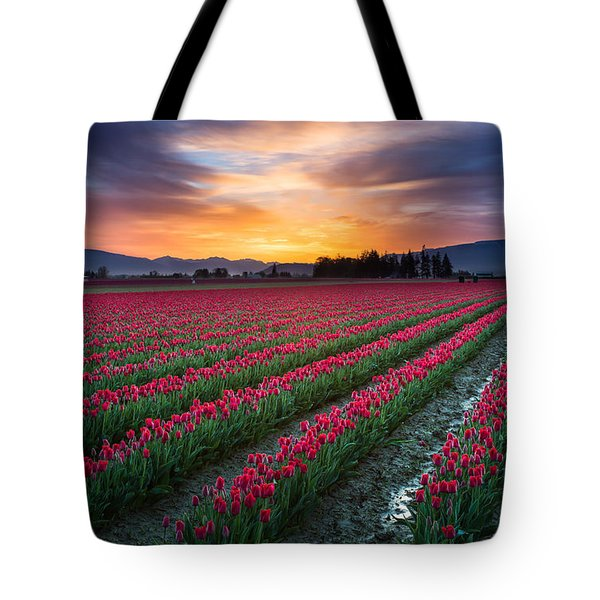 Skagit Valley Predawn Tote Bag by Inge Johnsson
