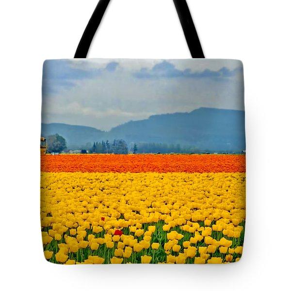 Skagit Valley Tulip Field Tote Bag