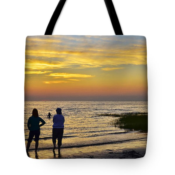 Skaket Beach Sunset 4 Tote Bag by Allen Beatty