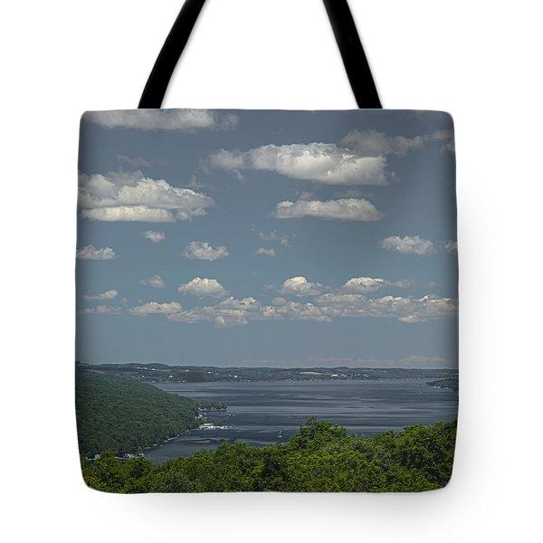 Skaneateles Lake Tote Bag by Richard Engelbrecht