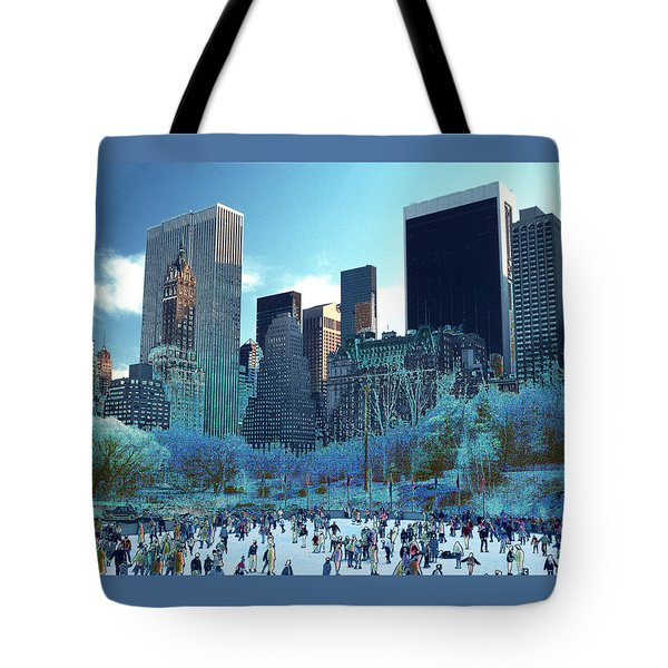 Skating Fantasy Wollman Rink New York City Tote Bag by Tom Wurl