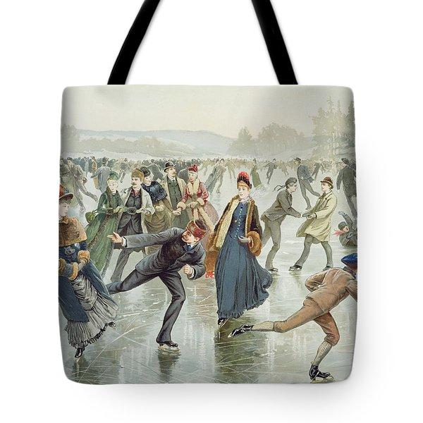 Skating Tote Bag by Harry Sandham