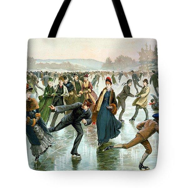 Skating Tote Bag by Hy Sandham