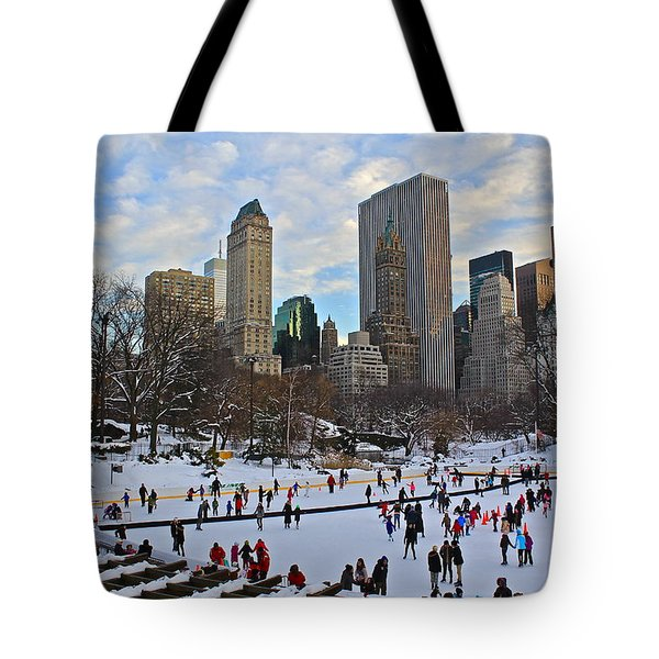 Skating In Central Park Tote Bag