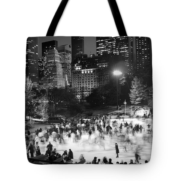 New York City - Skating Rink - Monochrome Tote Bag