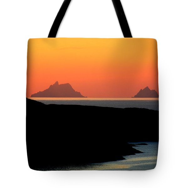 Skellig Islands  Tote Bag by Aidan Moran