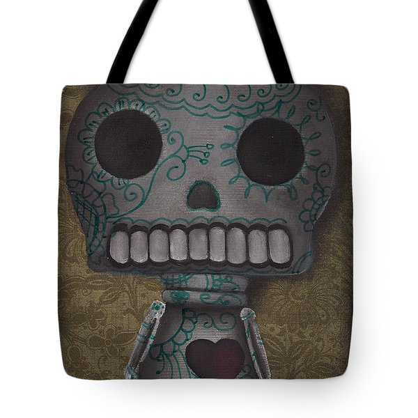 Skelly With A Heart Tote Bag