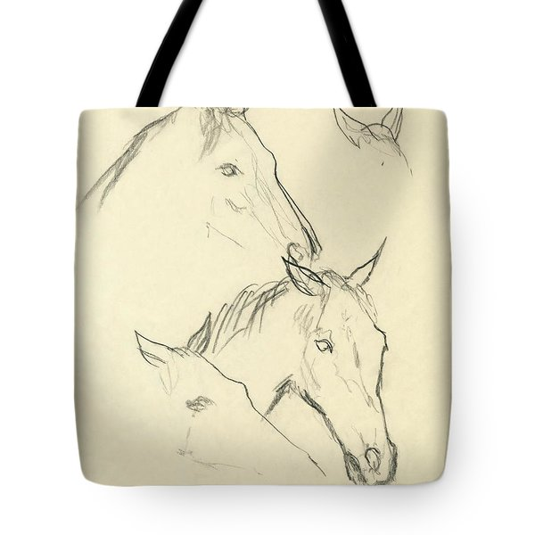 Sketch Of A Horse Head Tote Bag