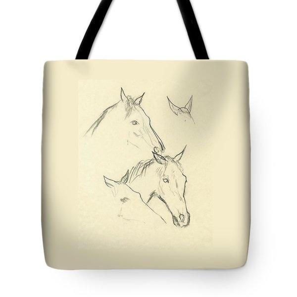 Sketch Of A Horse Head Tote Bag